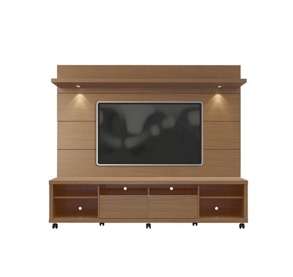 Manhattan Comfort Cabrini 2.2 Maple TV Stand and Floating Wall Panel MHC-2-1535482354