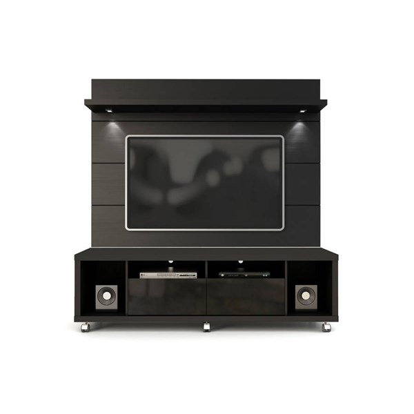 Manhattan Comfort Cabrini 1.8 Black TV Stand and Floating Wall Panel MHC-2-1541382253