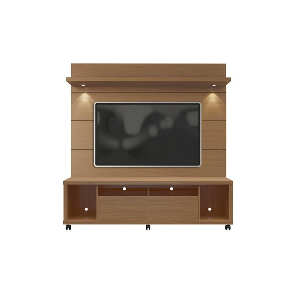 Manhattan Comfort Cabrini 1.8 Maple TV Stand and Floating Wall Panel MHC-2-1545482254