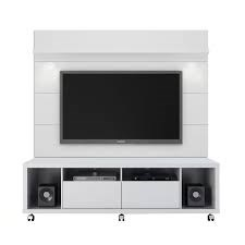 Cabrini White Gloss MDF TV Stand w/1.8 Panel Entertainment Center MHC-15484-82252-ENT-S1