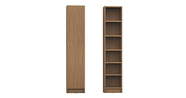 Manhattan Comfort Greenwich Narrow Venti Bookcases MHC-2-160252-53-160652-53