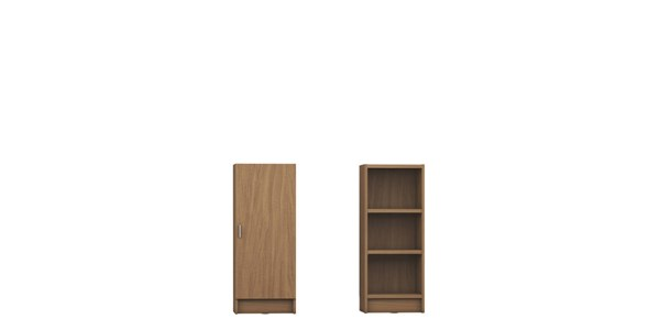 Manhattan Comfort Greenwich Narrow Tall Bookcases MHC-2-160452-53-160852-53