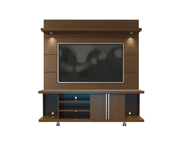 Manhattan Comfort Carnegie TV Stands with Cabrini 1.8 Lights Floating Wall Panels MHC-2-163-822-ENT-VAR