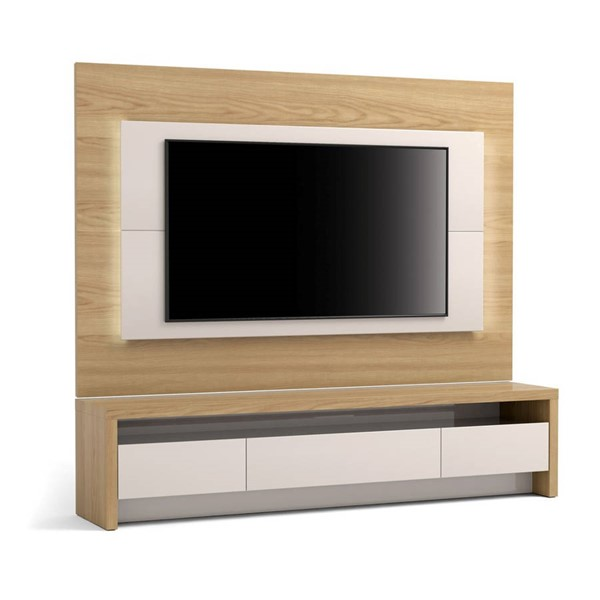 Manhattan Comfort Sylvan 70.86 inch TV Stand and LED Lights Panel MHC-2-221151252451