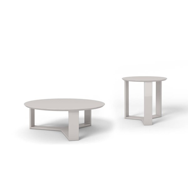 Manhattan Comfort Madison Off White 2pc Coffee Table Set MHC-2-8505385153