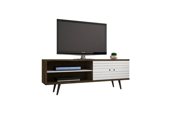 Manhattan Comfort Liberty White 3 Shelves TV Stand MHC-201AMC96