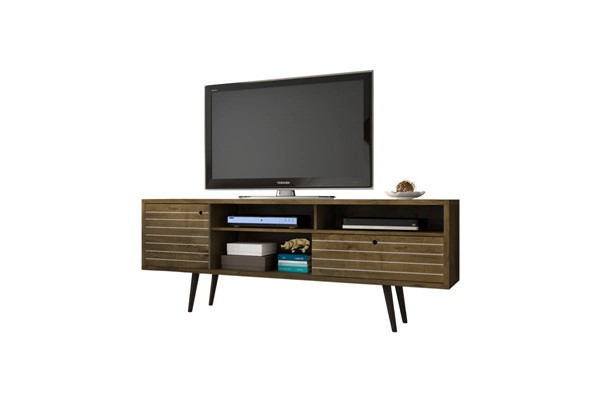 Manhattan Comfort Liberty Brown 4 Shelf TV Stand MHC-202AMC9