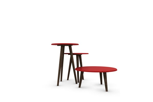 Manhattan Comfort Carmine Red 3pc End Tables MHC-206AMC97