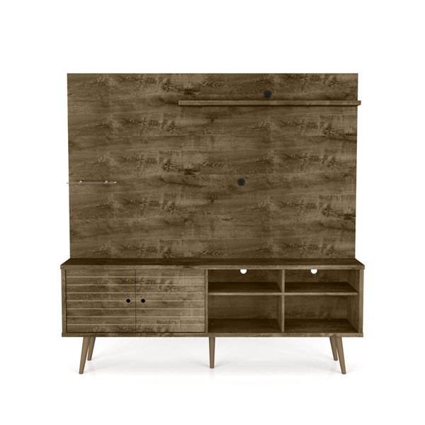 Manhattan Comfort Liberty 70.87 Inch Entertainment Center with Rustic Brown Door MHC-214BMC9