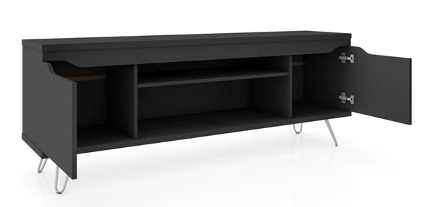 Manhattan Comfort Baxter Black 62.99 Inch TV Stand MHC-217BMC8