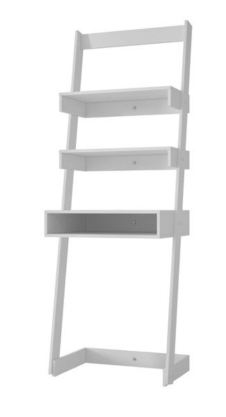 Manhattan Comfort Carpina White Melamine 2 Shelves Ladder Desk MHC-21AMC6