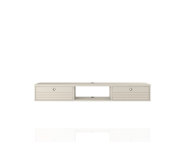 Manhattan Comfort Liberty Off White 62.99 Inch Floating Entertainment Center MHC-220BMC1