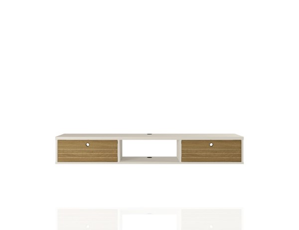 Manhattan Comfort Liberty Off White Cinnamon 62.99 Inch Floating Entertainment Center MHC-220BMC12