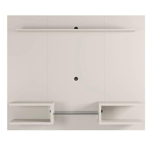 Manhattan Comfort Plaza Off White 64.25 Inch Floating Wall Entertainment Center MHC-224BMC1