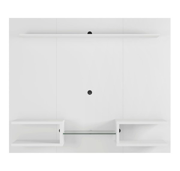 Manhattan Comfort Plaza White 64.25 Inch Floating Wall Entertainment Center MHC-224BMC6