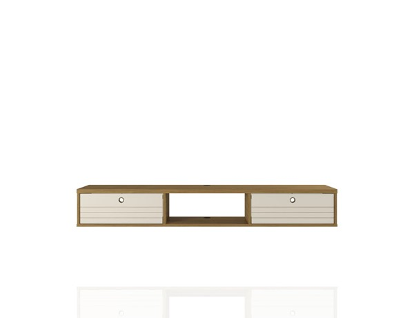 Manhattan Comfort Liberty Cinnamon Off White 62.99 Inch Office Desk MHC-226BMC21