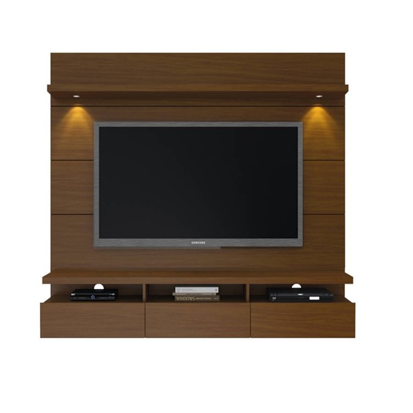 Manhattan Comfort Cabrini 1.8 Nut Brown Floating Wall Theater Entertainment Center MHC-23751
