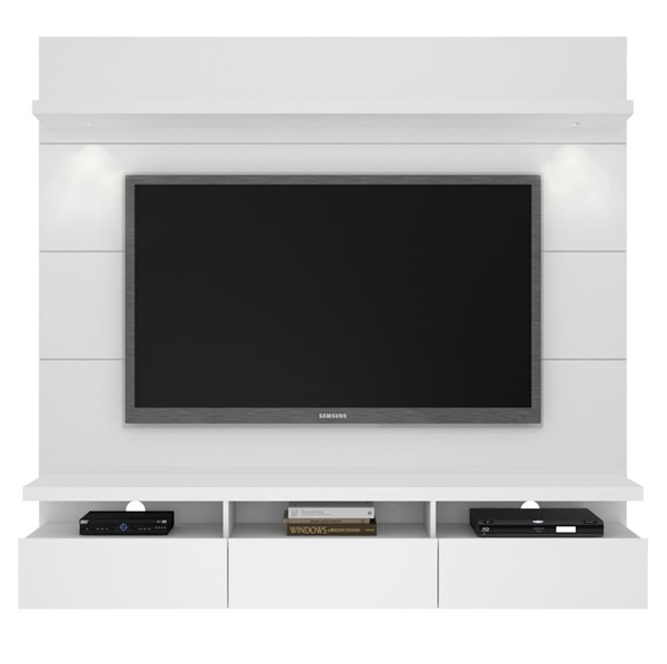 Manhattan Comfort Cabrini 1.8 White Floating Wall Theater Entertainment Center MHC-23752