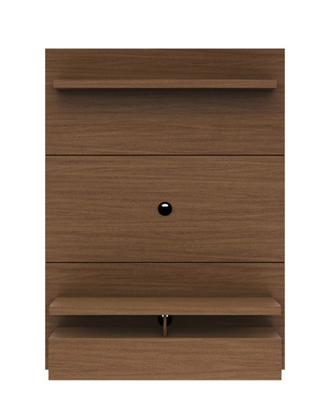 Manhattan Comfort City 1.2 Nut Brown Floating Wall Theater Entertainment Center MHC-25051