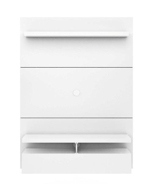 Manhattan Comfort City 1.2 White Floating Wall Theater Entertainment Center MHC-25052