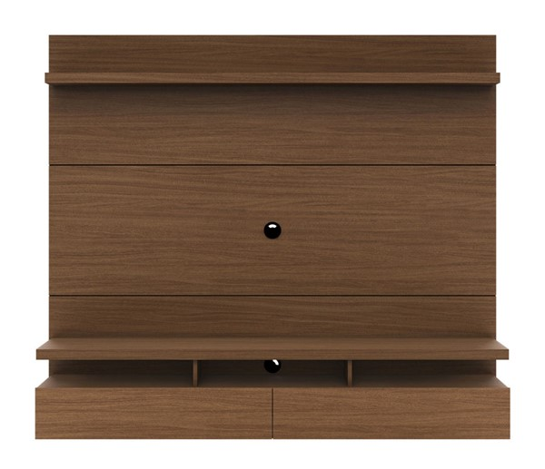 Manhattan Comfort City 1.8 Nut Brown Floating Wall Theater Entertainment Center MHC-25151