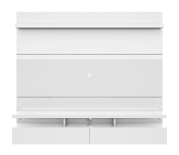 Manhattan Comfort City 1.8 White Floating Wall Theater Entertainment Center MHC-25152