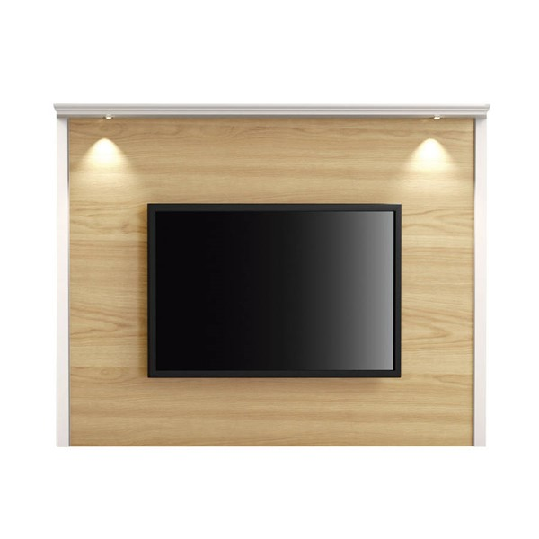 Manhattan Comfort Carder Nature Off White 85.43 Inch TV Panel with Led Lights MHC-251751