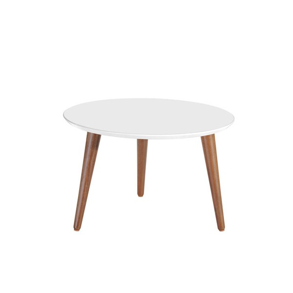 Manhattan Comfort Moore Round Mid High Coffee Tables MHC-25225-CT-VAR