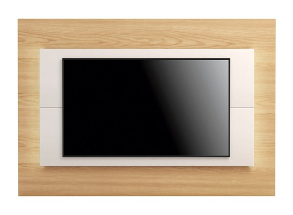 Manhattan Comfort Sylvan Nature Wood Off White 70.86 Inch TV Panel with LED Lights MHC-252451