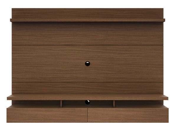 Manhattan Comfort City 2.2 Nut Brown Floating Wall Theater Entertainment Center MHC-25251
