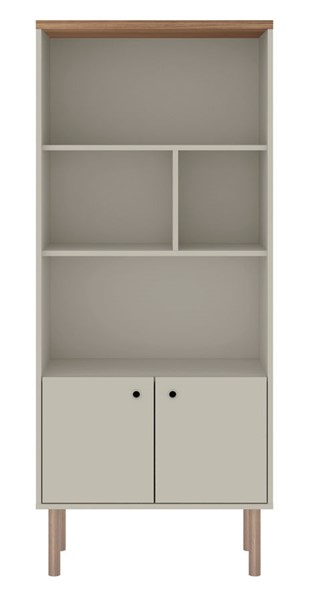 Manhattan Comfort Windsor Off White Display Bookcase Cabinet MHC-2LC1