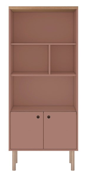 Manhattan Comfort Windsor Pink Display Bookcase Cabinet MHC-2LC2