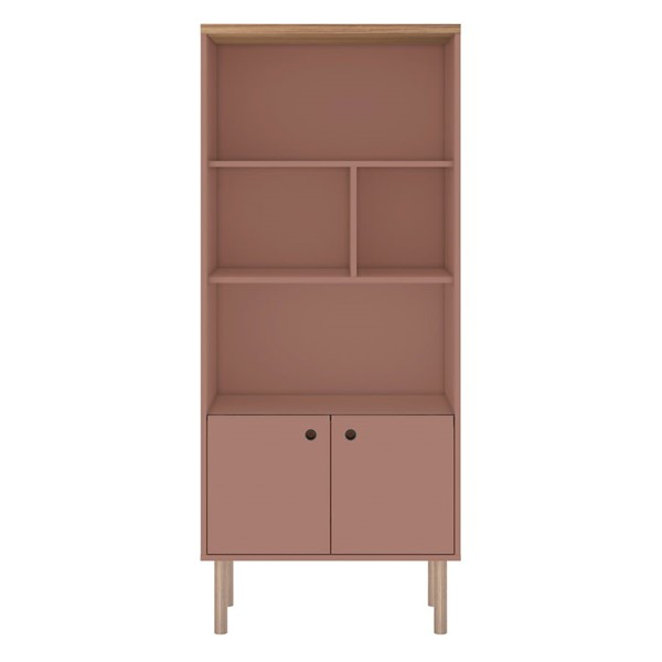 Manhattan Comfort Windsor Pink MDF Display Bookcase MHC-2LC2