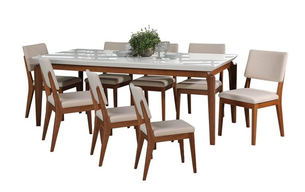 Manhattan Comfort Payson Dover 82.67 Inch 9pc Dining Sets MHC-3-101415110935-DR-S-VAR
