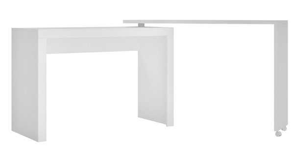 Manhattan Comfort Innovative Calabria White Melamine Nested Desk MHC-33AMC6