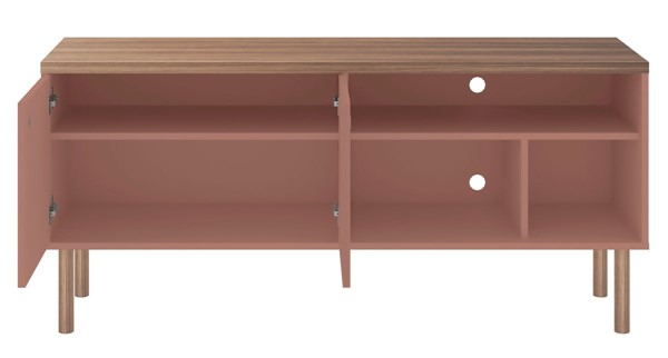 Manhattan Comfort Windsor Pink 53.54 Inch TV Stand MHC-3LC2