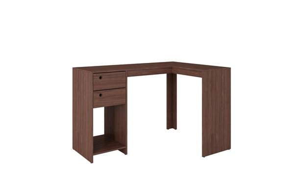 Manhattan Comfort Palermo Nut Brown Classic L Desk MHC-41AMC164