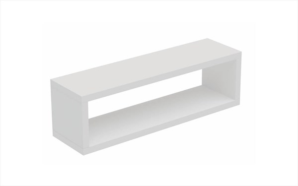 Manhattan Comfort Tichla Melamine Floating Shelf 2.0 MHC-47AMC-BK-VAR