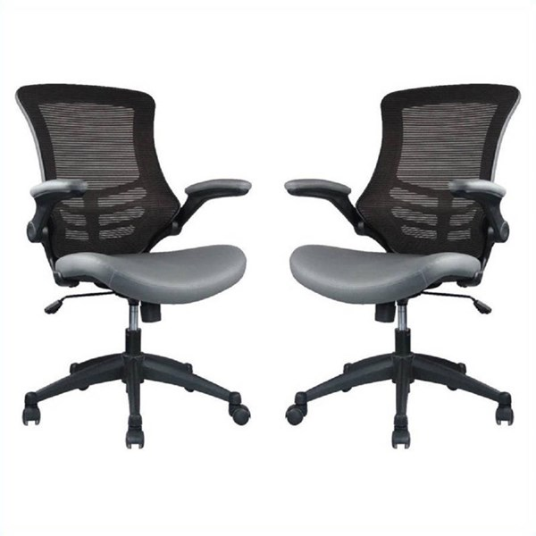 Manhattan Comfort Intrepid High Back Ergonomic Office Chairs MHC-MC-62-B-OFF-CH-VAR