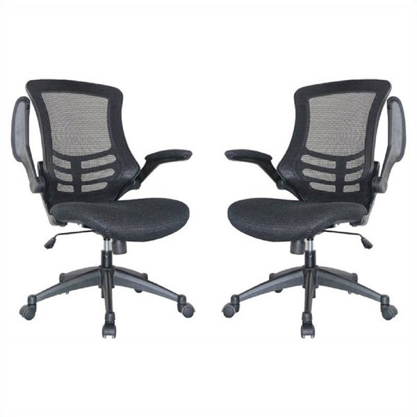 Manhattan Comfort Lenox Mesh Adjustable Tilt Lock Office Chairs MHC-MC-623-24-B-OFF-CH-VAR