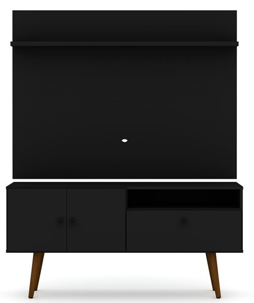 Manhattan Comfort Tribeca Black 2pc 53.94 Inch TV Stand and Panel MHC-6PMC70