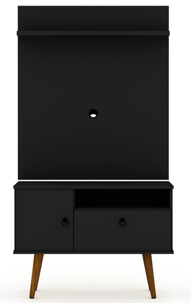 Manhattan Comfort Tribeca Black 2pc 35.43 Inch TV Stand and Panel MHC-7PMC70