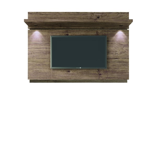 Manhattan Comfort Park 1.8 Nature Floating Wall TV Panel with LED Lights MHC-81461