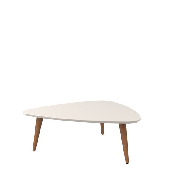 Manhattan Comfort Utopia Off White Triangle Coffee Table MHC-89252