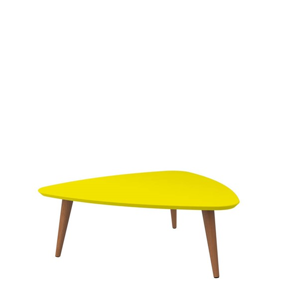 Manhattan Comfort Utopia Yellow Triangle Coffee Table MHC-89253