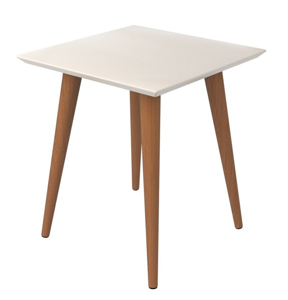 Manhattan Comfort Utopia Off White 19.68 Inch High Square End Table MHC-89352