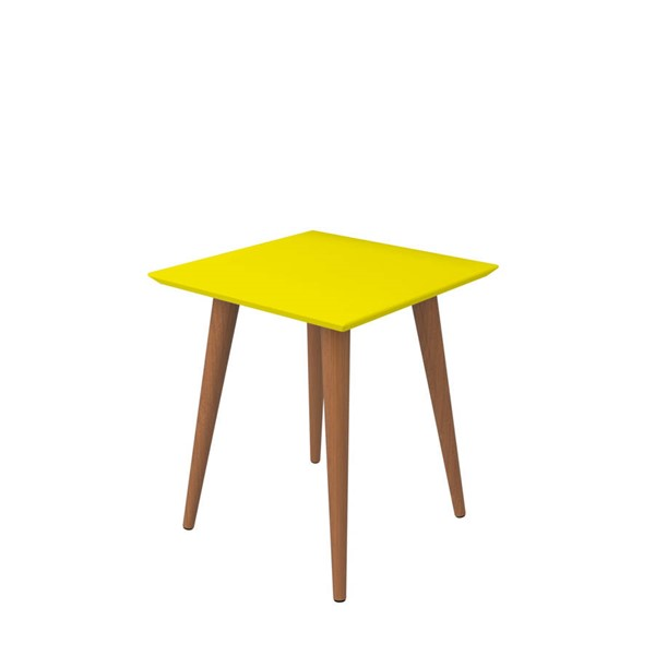Manhattan Comfort Utopia Yellow Square End Table MHC-89353