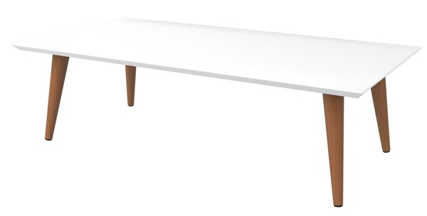 Manhattan Comfort Utopia White 11.81 Inch Low Rectangle End Table MHC-89451