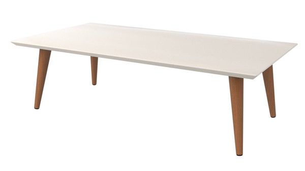 Manhattan Comfort Utopia Off White 11.81 Inch Low Rectangle End Table MHC-89452