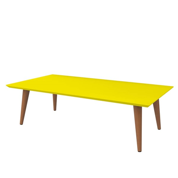 Manhattan Comfort Utopia Yellow Rectangle Coffee Table MHC-89453